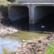 Stock Video: Concrete bridge over stream