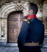 Spanish old soldier, elegant historical costume — Foto de Stock