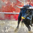 Stock Photo: Artistic image with background texture bullfight