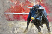 Artistic image with background texture bullfight — Stock Photo