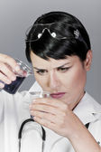 Laboratory tests, water and other liquid contamination — Stock Photo