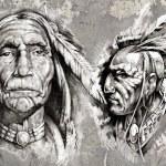Native american indian head — Stock Photo #21624595