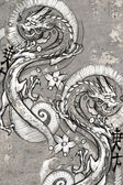 Tattoo art illustration, japanese dragons — Stock Photo