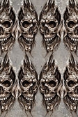 Tattoo art illustration, skulls wall — Stock Photo