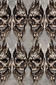 Tattoo art illustration, skulls wall — Stock Photo