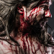 Jesus Christ with crown of thorns - Stock Photo