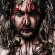 Representation of the passion of Jesus Christ. Calvary and relig — Stock Photo