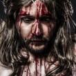 Representation of the passion of Jesus Christ. Calvary and relig — Stock Photo #24048901