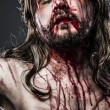 Stock Photo: Jesus Christ with crown of thorns, passion concept