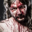 Stock Photo: Jesus Christ with crown of thorns, representation of Calvary