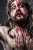 Jesus Christ with crown of thorns, passion concept — Stock Photo