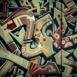 Stock Photo: Colorful graffiti, abstract grunge grafiti background over textu