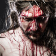 Stock Photo: Calvary jesus, man bleeding, representation of passion