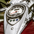 Shiny chrome plated motorcycle - Stock Photo