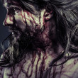 Stock Photo: Jesus Christ with crown of thorns