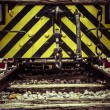 Front detail of old locomotive — Stock Photo