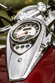 Shiny chrome plated motorcycle — Foto de Stock