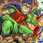 graffiti colorido, fondo graffiti abstracto grunge — Foto de Stock