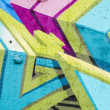 Colorful graffiti, abstract grunge graffiti background — Stok fotoğraf