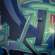 Colorful graffiti, abstract grunge graffiti background — ストック写真