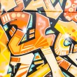 Colorful graffiti, abstract grunge graffiti background — Stock fotografie