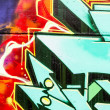 Colorful graffiti, abstract grunge graffiti background — Foto Stock