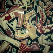 Colorful graffiti, abstract grunge graffiti background — Zdjęcie stockowe