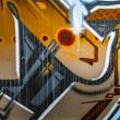 graffiti colorido, fondo de grafiti abstracto grunge — Foto de Stock