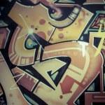 Colorful graffiti, abstract grunge graffiti background — Stock Photo