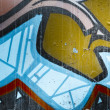 Colorful graffiti, abstract grunge grafiti background — Foto Stock
