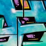 ������, ������: Blue urban colorful graffiti abstract grunge graffiti background