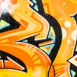 Colorful graffiti, abstract grunge graffiti background — Photo