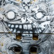 Monster, colorful graffiti, abstract grunge grafiti background — Foto Stock