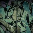 Colorful graffiti, abstract grunge graffiti background — Stockfoto #25552789