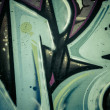 Colorful graffiti, abstract grunge graffiti background — 图库照片