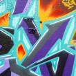 Colorful graffiti, abstract grunge graffiti background — Stock Photo #25552813