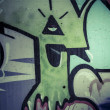 Stock Photo: Colorful graffiti, abstract grunge grafiti background