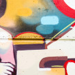 bunte Graffiti, abstract Grunge Graffiti hintergrund — Stockfoto #25552927