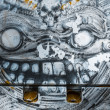Monster, colorful graffiti, abstract grunge grafiti background — Stock Photo #25552975