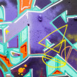 colorful graffiti, abstract grunge graffiti background — Stock Photo