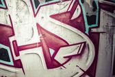 Colorful graffiti, abstract grunge grafiti background — Stock Photo