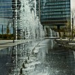 Stock Photo: Water jets, office building source