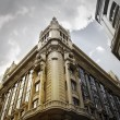 Building typical of Madrid, Gran Via Street - Stock Photo