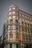 Madrid typical building, spanish architecture — Stock Photo