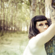 Forest nymph woman — Stock Photo