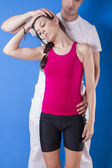 Athletic fitness couple — Stock Photo