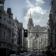 Gran Via, street in Madrid, capital of Spain, Europe. — Stock Photo
