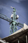 Industrial Crane, under construction building, machine — Stock Photo