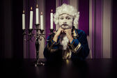 Vintage, man dressed in rococo style — Stockfoto