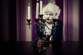 Vintage, man dressed in rococo style — Stock Photo